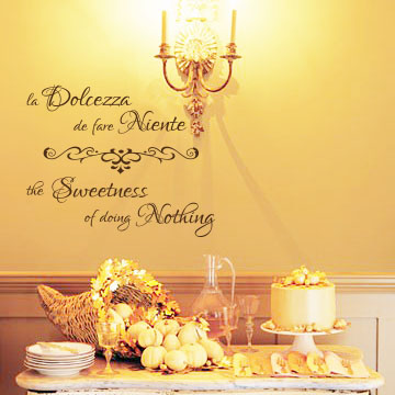 Sweetness Of Doing Nothing Wall Decal