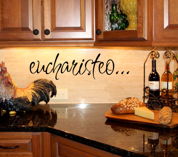 Eucharisteo Wall Decal