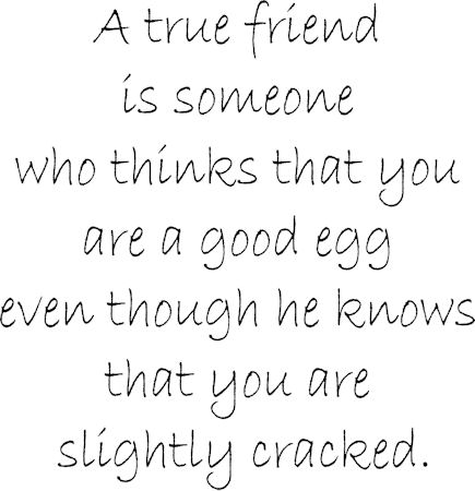 A True Friend Good Egg Wall Decals