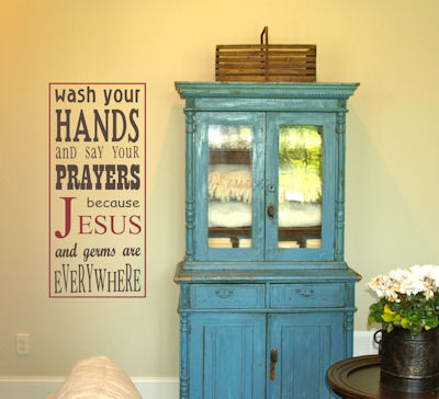 Jesus And Germs Everywhere Wall Decals