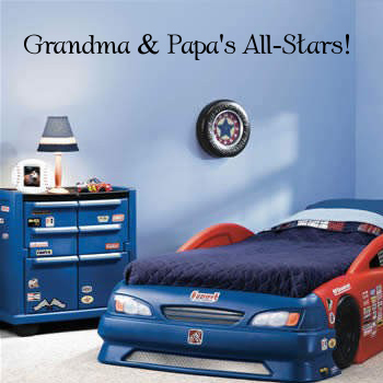 Grandma and Papa's All-Stars Wall Decal