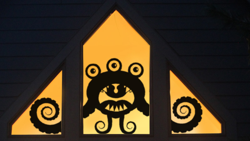 Curlz Window Monster Wall or Window Decal