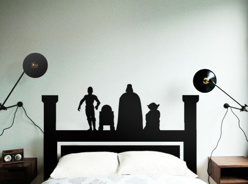 star wars wall decals wars headboard beautiful wall decals 30090