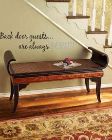 Back Door Guests Wall Decal