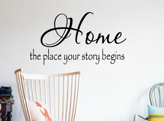 Home Where Your Story Wall Decal