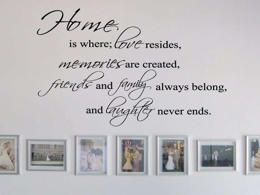 Home Is Where Friends Family Wall Decal