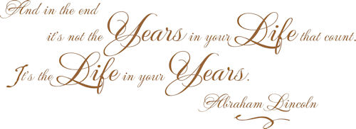Years In Your Life | Wall Decals