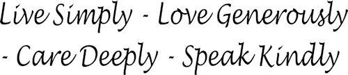 Live Love Care Speak Wall Decals