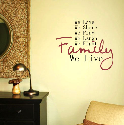 Family We Live Wall Decal