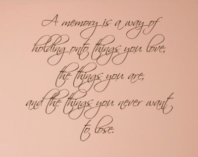 A Memory Is Wall Decals