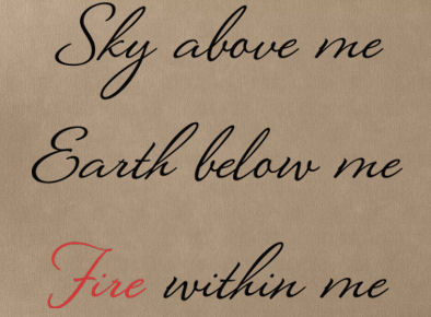 Sky Earth Fire Wall Decal Item