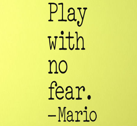 Play With No Fear Wall Decal