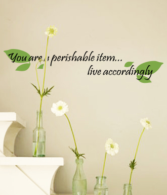 Live Accordingly Wall Decal