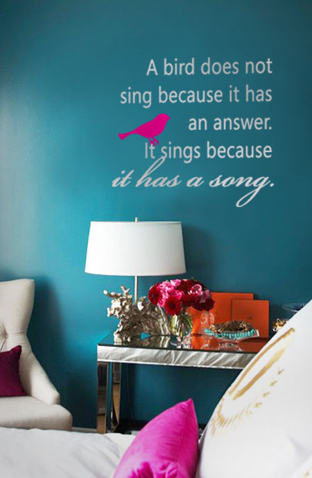 A Bird Does Not Sing Inspirational Decal