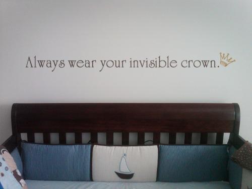 Always Wear Crown Wall Decal
