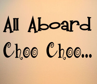 All Aboard Choo Choo Wall Decals