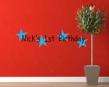 Boy Birthday Wall Decal