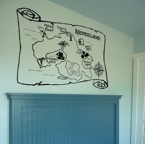 Map of Neverland (Large) Wall Decal