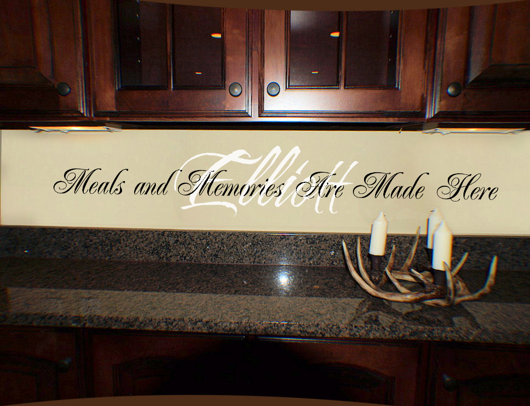 Meals And Memories Made Here Wall Decal