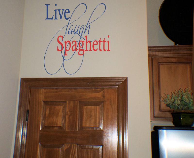 Live Laugh Spaghetti Wall Decal