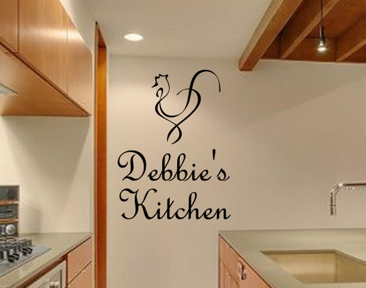 Personalized Rooster Kitchen Wall Decal