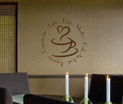 Coffee Round Wall Decal