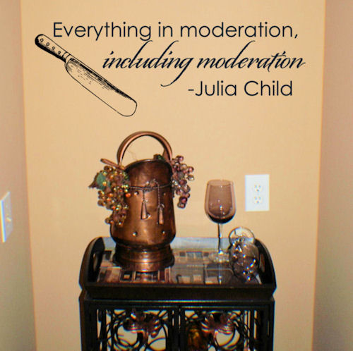 Everything in Moderation Kitchen Wall Decal