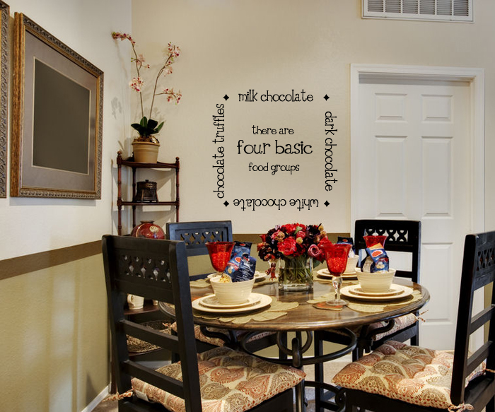 Four Food Groups-Chocolate Wall Decal