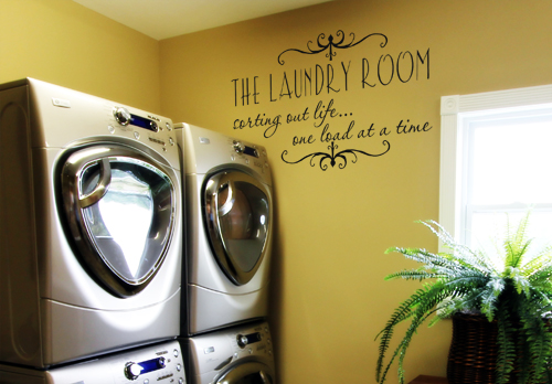 The Laundry Room Sorting Out Life Wall Decal