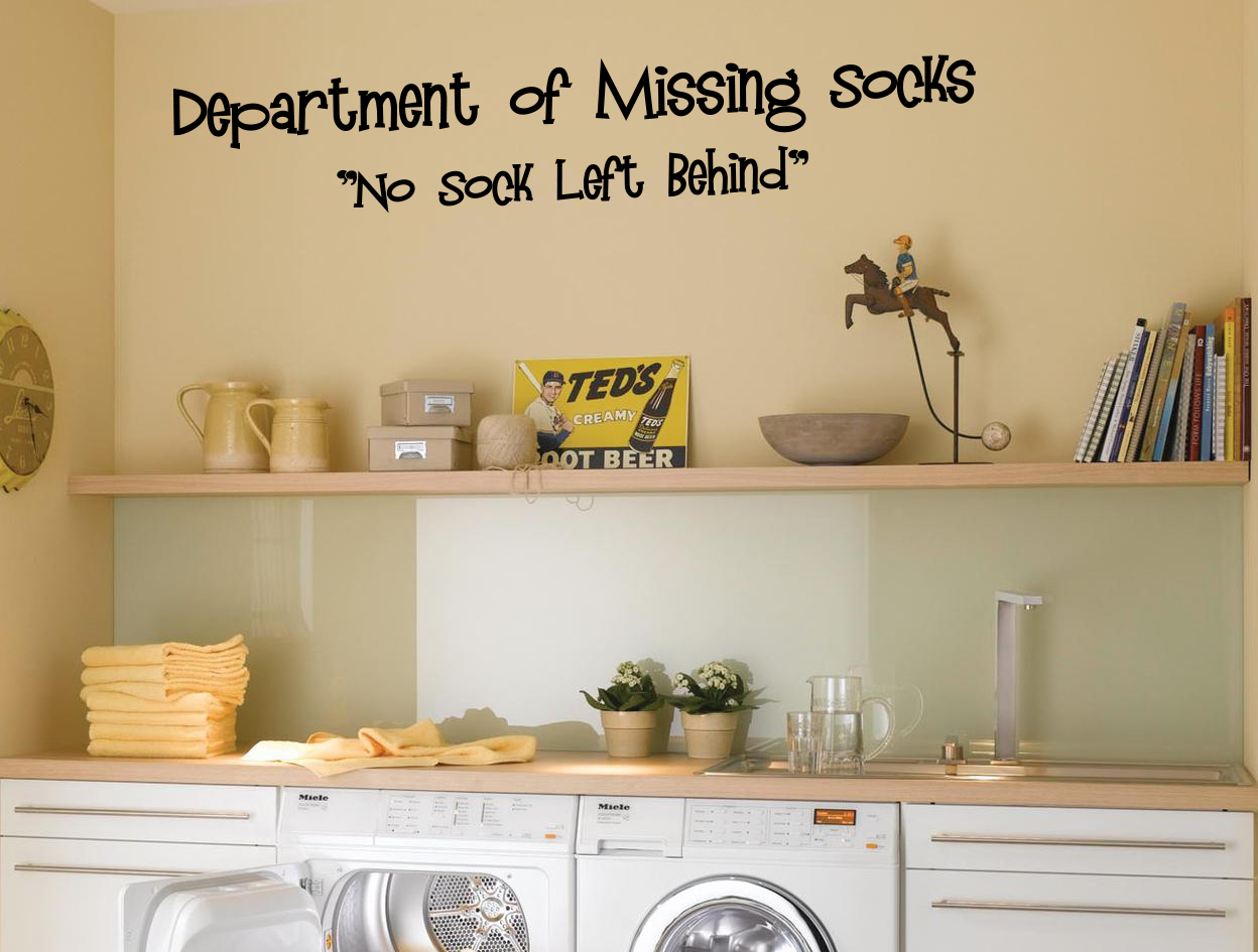 No Sock Left Behind Wall Decal