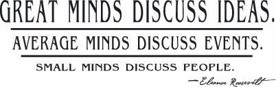 Great Minds Discuss Ideas | Wall Decals