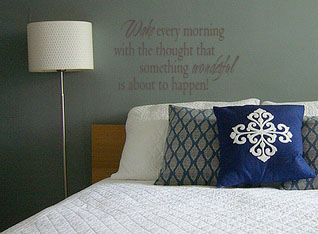 Wake Every Morning Wall Decal