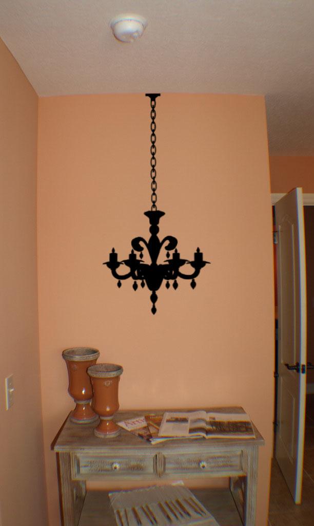 Chandelier 7 Light Wall Decal
