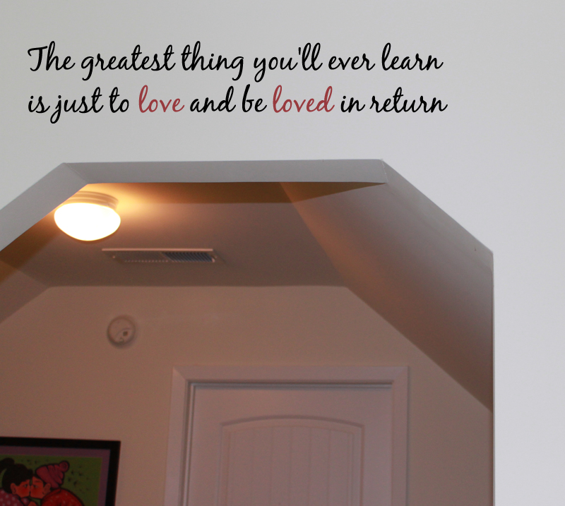 Love Be Loved Wall Decal