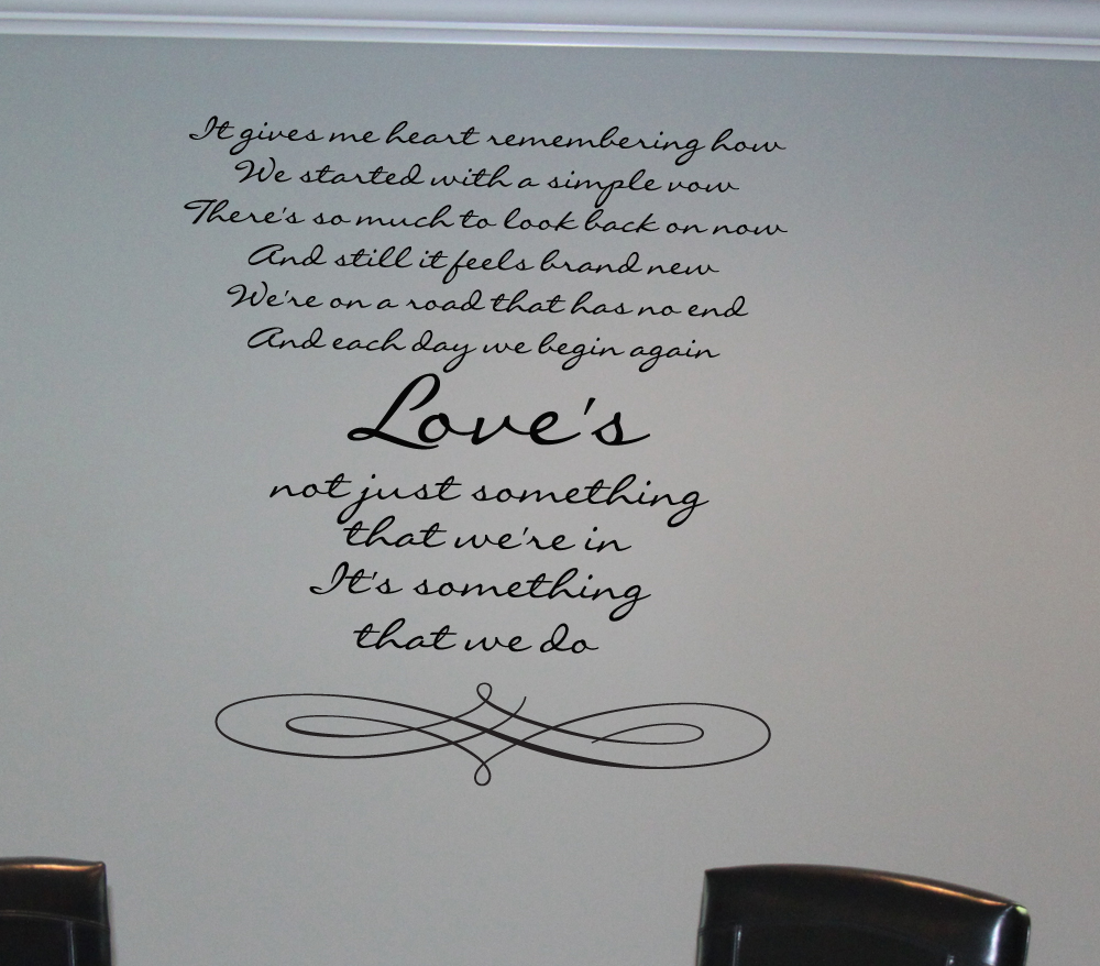Love Something We Do Wall Decal