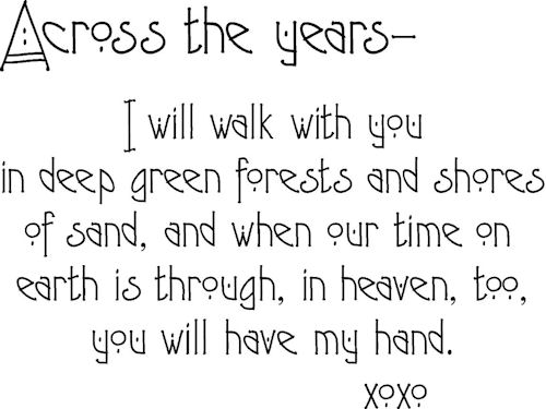 Across The Years Walk With You Wall Decals
