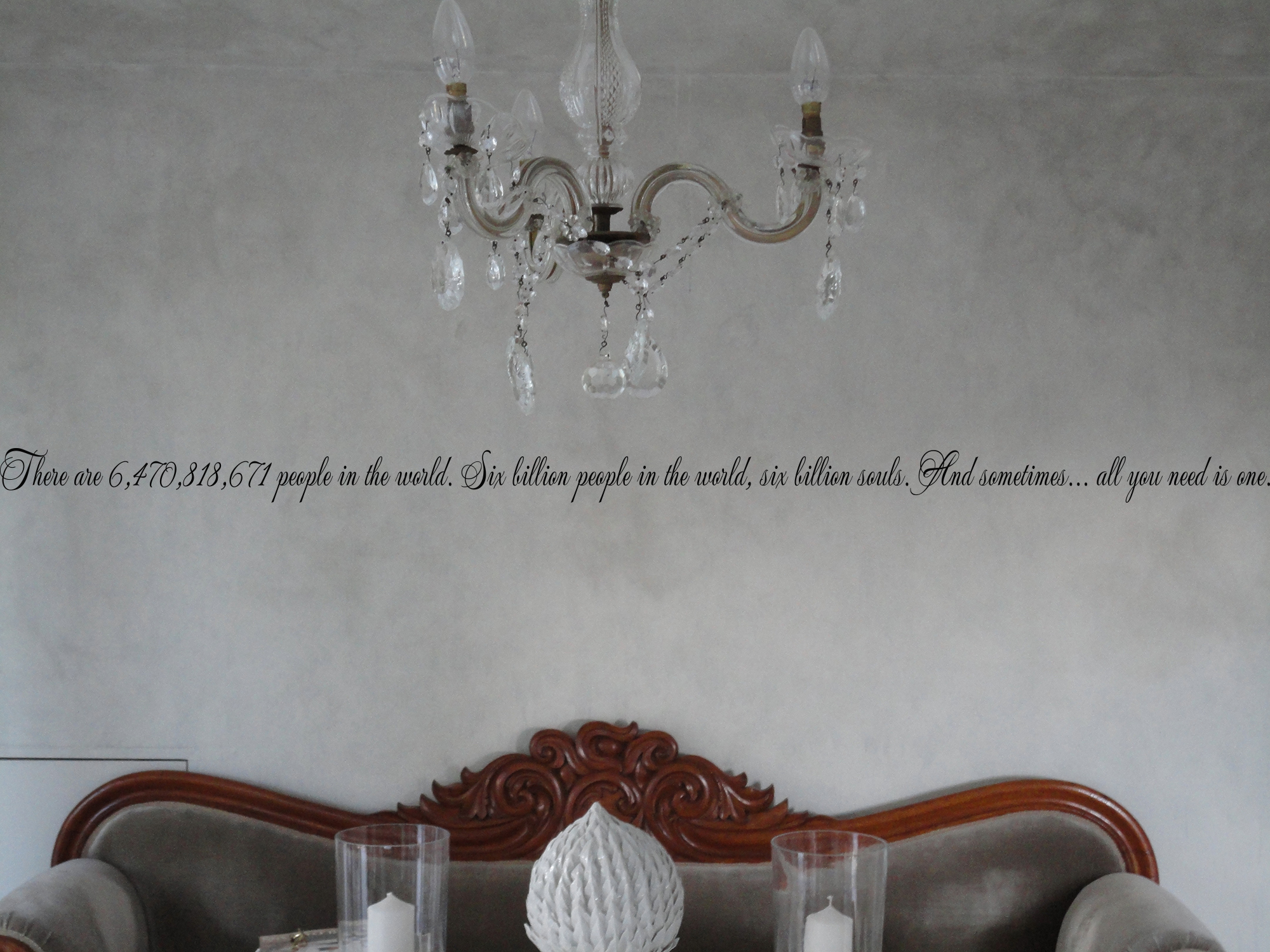 Six Billion People All You Need Is One Wall Decal