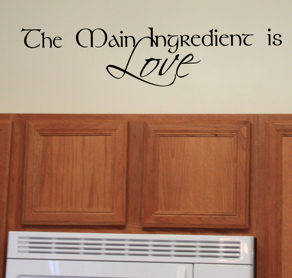 Main Ingredient Love Wall Decal