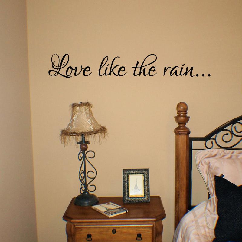 Love Like The Rain Wall Decal