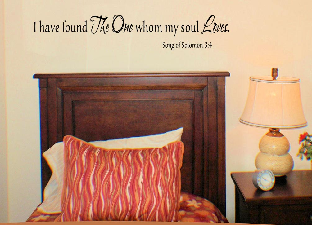 One Whom My Soul Loves Wall Decal