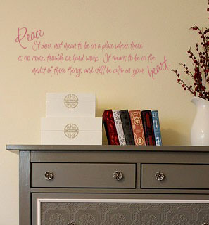 Calm In Your Heart Wall Decal