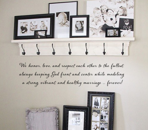 Marriage Wall Decal
