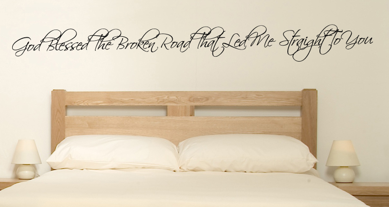 Broken Road To You Wall Decal