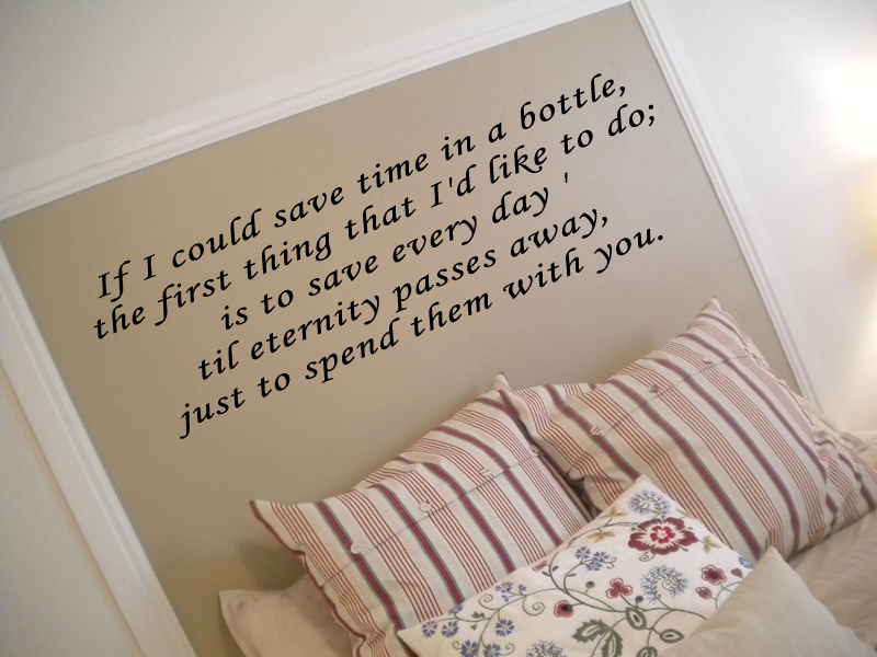 Save Time In A Bottle Wall Decal