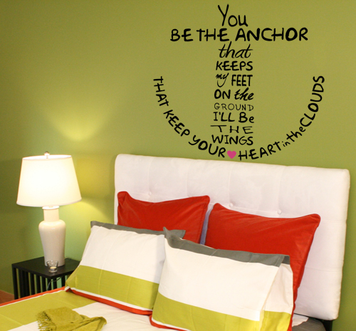 You Be The Anchor Wall Decal