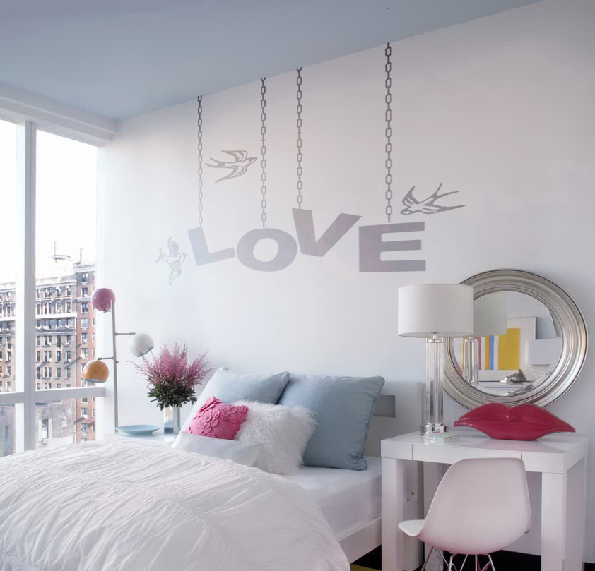 Hanging Love Wall Decal