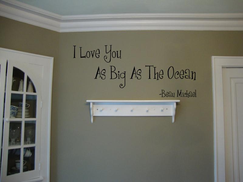 Love You As Big As Ocean Wall Decal