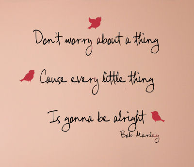 Bob Marley Don't Worry Wall Decals