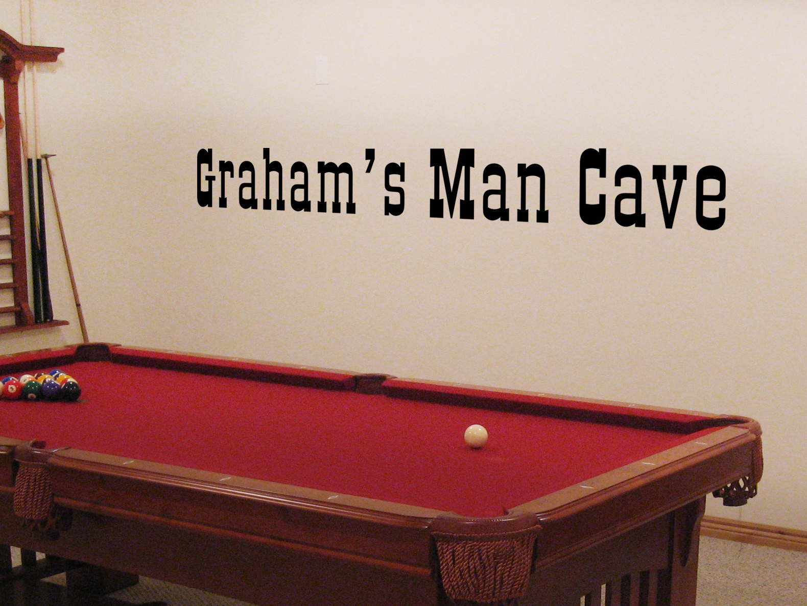 Man Cave Wall Decals