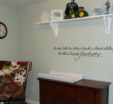 A Mother Holds Wall Decal